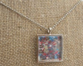 Theodore Roosevelt Red White and Blue Nail Polish Pendant