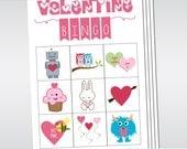 Printable VALENTINE Bingo Game Set for Preschoolers or Young Children Instant Download