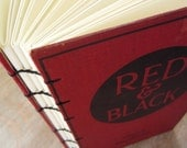 Blank Book Journal Vintage 1919 Red and Black - Ready To Ship