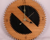 Laser Cut Hardwood Gear Wall Clock