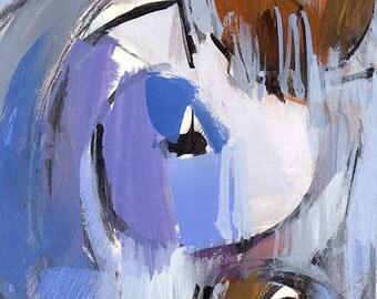 Art Print Abstract Modern Blue Purple Sienna by David Lloyd