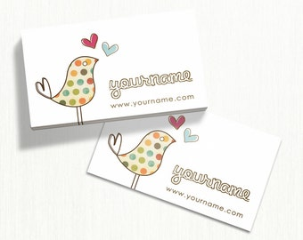 Business Cards  Custom Business Cards  Personalized Business Cards  Business Card Template  Modern Business Cards  Bird Business Card B10