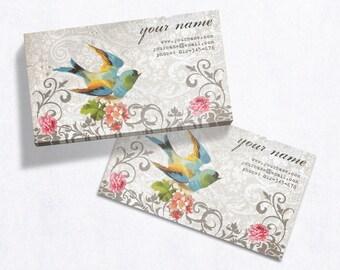 Business Cards  Custom Business Cards  Personalized Business Cards  Business Card Template  Vintage Business Cards  Bird Business Card V12