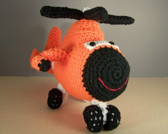 h65 coast guard helicopter ,  Crocheted Amigurumi Military h65 dolphin Coast Guard Helicopter , stuffed helicopter toy  MADE TO ORDER
