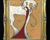 COMMISSIONED PAINTING, Horse Portrait, Original Art, Custom Illustration, Equine Gift, Personalized Artwork,Gift for Her, Unique Idea SHANO