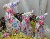 SET of 3, BUNNY Tuckins, Bunny Tucks,Easter Bunny, Bunny Ornaments, Bunny Decorations, Easter Ornaments, Easter Decorations, Stuffed Bunnies