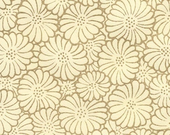 "Kikka Gold - cream - Japanese chrysanthemum paper, 5 sheets, 8.5""X11"""