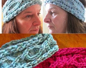 Intertwinement Cable Crochet Headband/Earwarmer