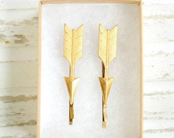 Golden Arrow Bobby Pins
