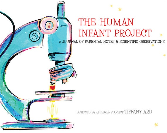 The Human Infant Project -- Baby keepsake book for science nerds