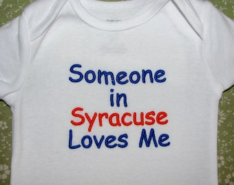 Personalized Bodysuit.  Someone Far Away Loves Me.  Cute Sayings Available or Use Your Own.