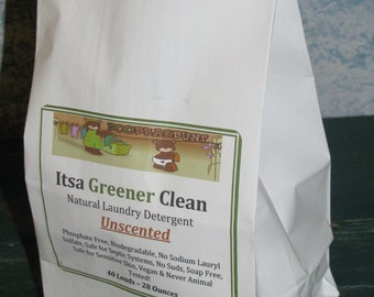 Unscented - All Natural Laundry Detergent - 40 Loads - Itsa Greener Clean
