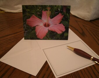 Note card - Hibiscus flower