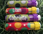 Personalized Sidewalk Chalk Holder - Birthday Party Favor - Mix n Match - QUANTITY 10