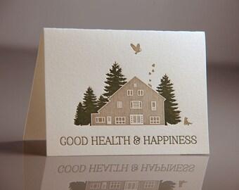 SALE Letterpress Holiday Barnhouse Dog 6 Pack of Cards