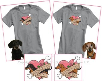 Dachshund Wiener Dog Mom Tatttoo T-Shirt