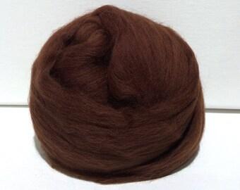 Roving, Needle Felting Spinning Fiber, Merino, 1 oz  Brown, felted animal, with three, free coordinated fiber samples