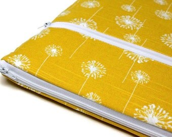 Women's Microsoft Surface Pro 2, 3 4 Case, Dell XPS 13 Sleeve, Google Chromebook Sleeve, Surface Book Case Laptop Sleeve - Yellow Dandelions