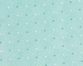 SALE - Daysail - Hatch in Aqua Blue: sku 55106-15 cotton quilting fabric by Bonnie and Camille for Moda Fabrics - 1 yard