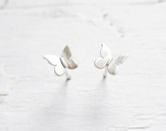 Butterfly Earings Sterling Silver Jewelry Earrings with Butterflies Tiny Butterfly Earring Studs Stud Ear rings