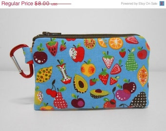 Carabiner Blue Coin Purse Fruit Chainge Purse with Clip