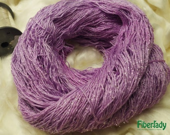 Pure Silver and Forget me Not Fingering Bamboo Yarn