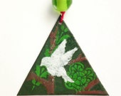 white dove Christmas ornament, peace ornament with white bird, turtle dove hostess gift, bird lover housewarming gift, stocking stuffer