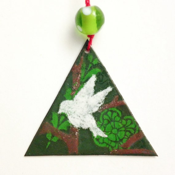 white dove Christmas ornament peace ornament with white bird