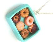 Donut box necklace