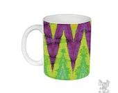 Geometric, Mug, Chevron Mug, Unique, Coffee Mug, Funky, mug, coffee cup, Abstract, Art, Ingrid Padilla