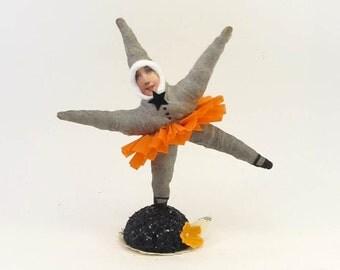 Spun Cotton Vintage Style Halloween Dancing Star Figure
