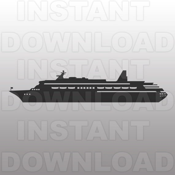 Cruise Ship Svg File Cutting Template Clip Art For By Sammo