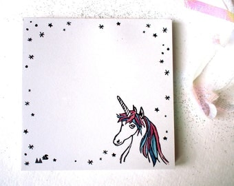 "Unicorn - notepad - 9,8x9,8cm/ 4x4"" - 100% ECO"