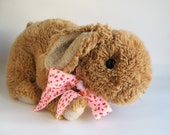 Vintage Bunny Rabbit Large Stuffed Animal by Gund Child Toy Easter Bunny 1980s