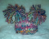 Gypsy Jewels Double Fluff Baby Hat Photography Prop Ready to Ship