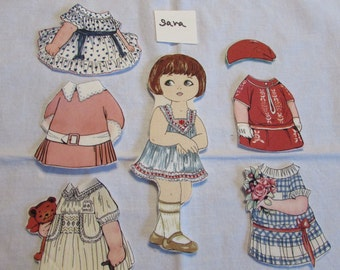 Aunt Lindy's Fabric Paper Dolls With Five Dresses Gift Set