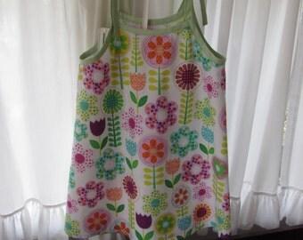 Girl Summer Dress/ Jumper Size 6 Shoulder Ties In Delightful Spring Prints