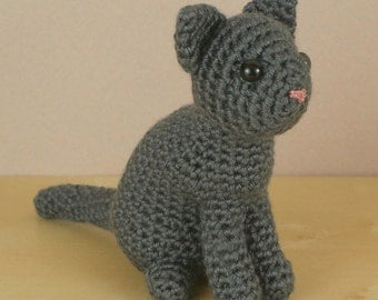 PDF AmiCats Single-Coloured Cat - amigurumi cat CROCHET PATTERN