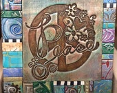 Peace Polymer Clay Tile Mosiac MM40034