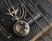 Brass Pocket Watch Necklace number 21