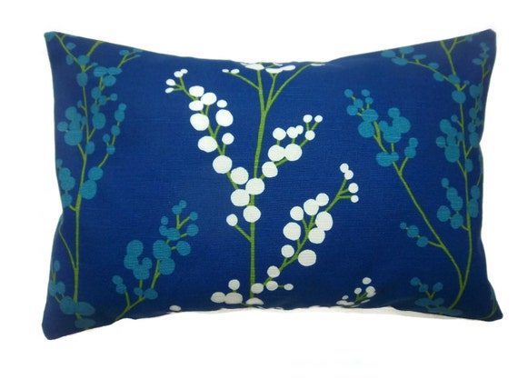 Royal Blue And White Throw Pillows : Decorative Pillow Cover Royal Blue Turquoise Green White