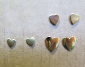 Vintage Plated Stud Earrings - Heart Collection - You Choose (4 pairs) (J596)