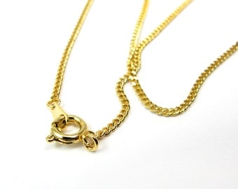 Vintage Gold Plated Curb Chain Necklaces (16.5 inches) ( 4X) (C591)
