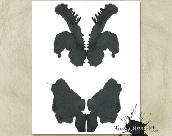 Rorschach Ink Blot Art Vertical print no 8