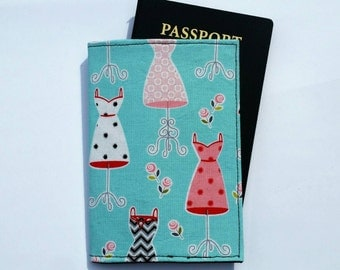 FREE SHIPPING UPGRADE with minimum -  Passport case / passport holder / passport cover : Dressed Up