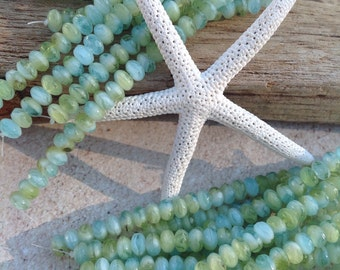 Supplies,bead, glass, czech glass beads ,czech picasso bead,faceted rondelle,czech rondell,faceted beads, 3x5 mm rondelle,glass,blue,greens.
