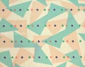 Japanese Fabric Kokka JUBILEE printed matter line - triangle - B - 50cm