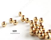 200 pcs 2mm Gold Filled Beads Round Seam Beads Spacers B39GF