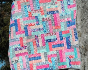 Quilt Pattern.... Easy Beginner Quick ...Strip and Jelly Roll Friendly, Scrappy Ever After