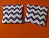 2 Purple Chevron Rice Bags - Nail Application - Hot or Cold Compress - Pick Your Size - Reusable Rice Bags - Microwavable Rice Bags